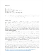 U.S. Fifth Periodic Report to the U.N. Human Rights Committee on Compliance with the International Covenant on Civil and Political Rights (2019)